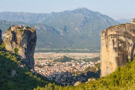 inaccessible: Monastery Holy Trinity in Meteora, Kalambaka Greece.