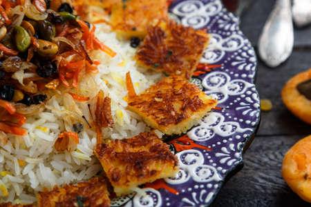 Close view of iranian jewelled rice Stock Photo