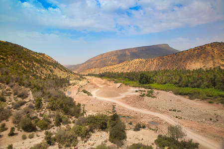 Oasis Paradise valley in mountains Agadir, Morocco Stock Photo
