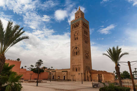 Koutubia mosque in Marakech. One of most popular landmarks of Morocco.