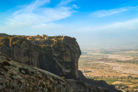 Old Monastery on the top of rock in Meteora, Thessaly, Greece.