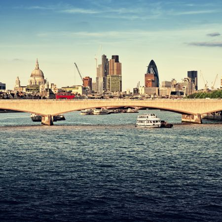 Skyline of City of London photo