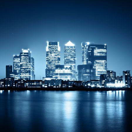 Canary Wharf widoku z Greenwich.