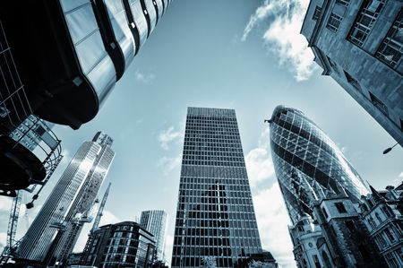 Skyscrapers in City of London, Stock fotó