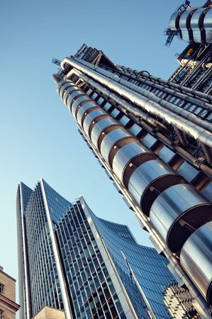 Lloyds of London and Willis Building in City of London. photo