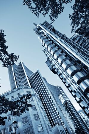 The Lloyd's Building and Willis Building located in the City of London. Stock Photo - 7948650