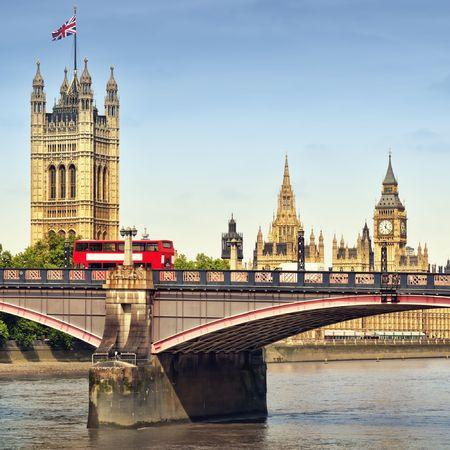 Houses of Parliament and Lambert Bridge. Stock Photo - 7948530