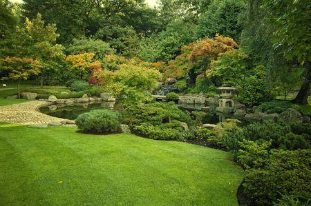 holland: Kyoto Garden in Holland Park, London, UK