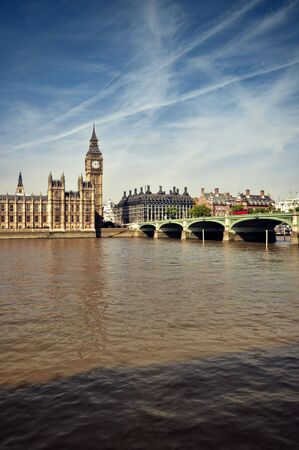 Houses of Parliament and Westminster Bridge,  London. Stock Photo - 7948533