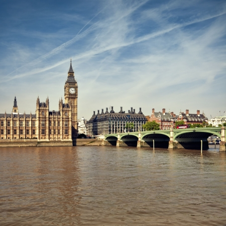 Houses of Parliament at summer time, London, UK. photo