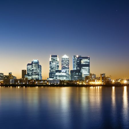 Canary Wharf view from Greenwich. photo