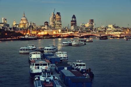 City of London skyline at night photo