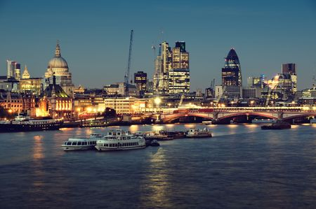 City of London one  at night photo