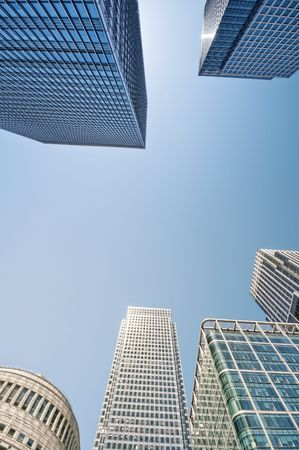 Canary Wharf financial district in London. photo