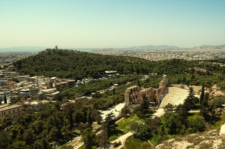 The Theater of Herod Atticus in Athens, Greece photo