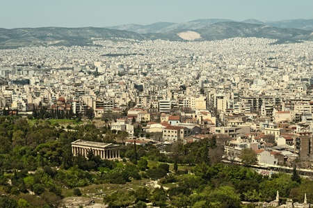 View of  the Ancient Agora with the Temple of Hephaisteion  Stock Photo - 9655689