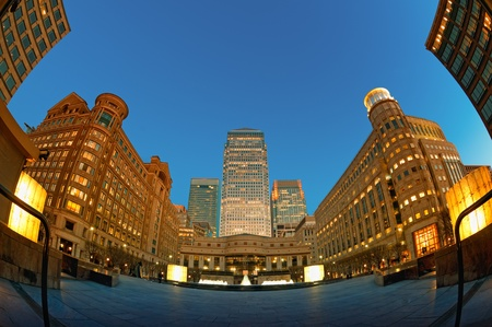 Cabot Square in Canary Wharf, London photo