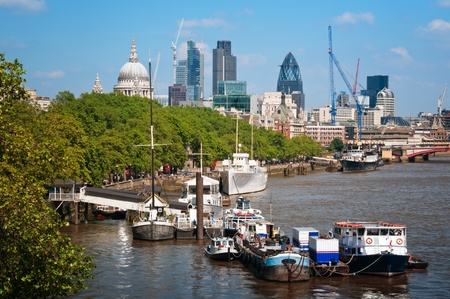 River Thames and City of London.  photo