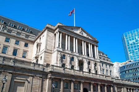 Facade of Bank of England Stock Photo