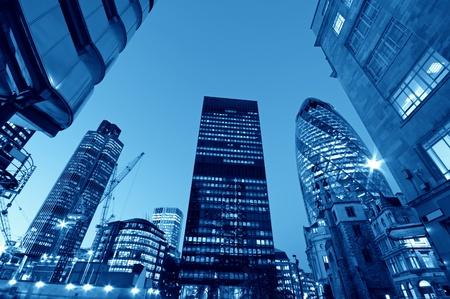 Wolkenkrabbers in Londen, (Lloyds of London, Tower 42, Aviva and the Gherkin)