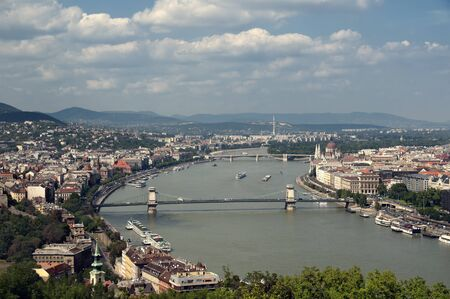 Budapest skyline view form Gellert Hill photo