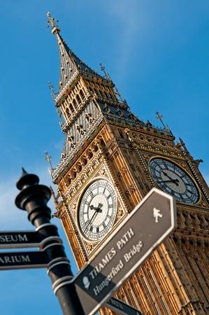 Close up image of Big Ben  photo