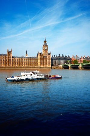 Houses of Parliament and River Thames. photo