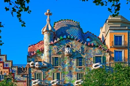 barcelone: Casa Battlo à Barcelone - Espagne, conçu par; Antoni Gaudi