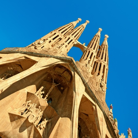 barcelona cathedral: Facade of Sangrada Familia church.