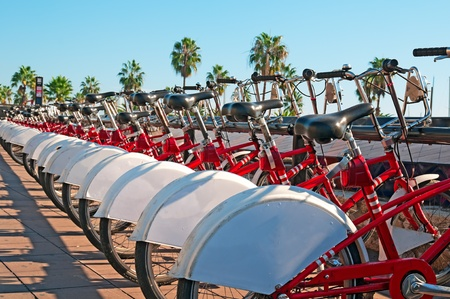 Public bicycle rental  in Barcelona. photo