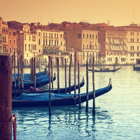 Grand Canal and gondolas Stock Photo