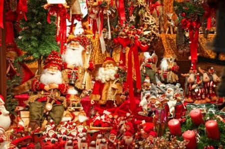 christmas market: Christmas decorations at a Christmas Market.