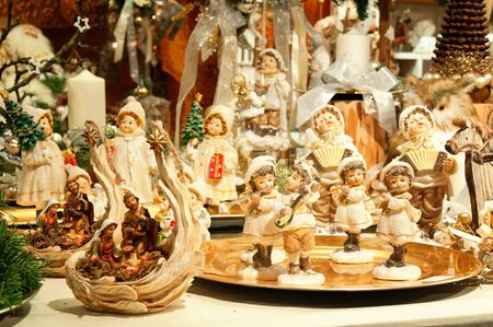 Christmas decorations at a Christmas Market. photo