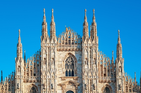 Facade of Milan Cathedral. photo
