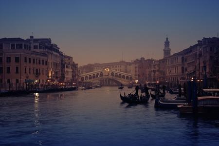 Rialto Bridge and gondolas  in Venice. Stock Photo - 12403987