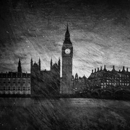 ロンドンの国会議事堂の悲観的なテクスチャ画像