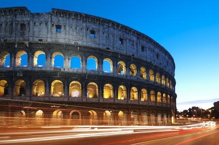 lazio: Coliseum at night, Rome - Italy