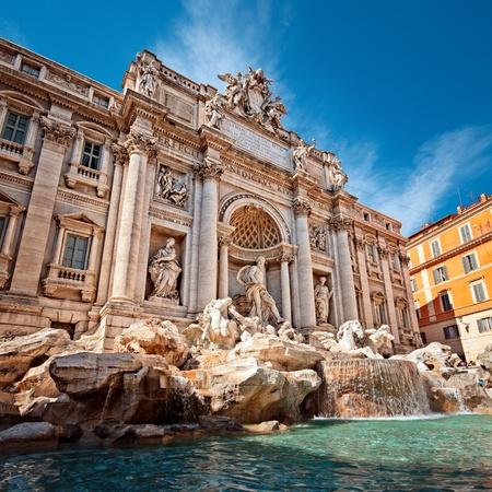 bernini: Trevi Fountain  Fontana di Trevi  in Rome - Italy