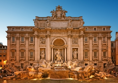 Night image of Trevi Fountain, Rome - Italy