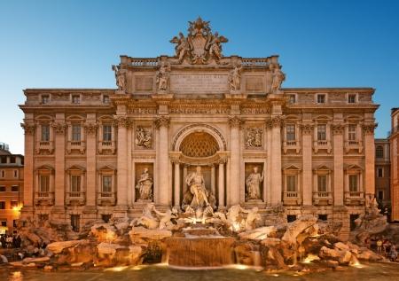 이탈리아 - 트레비 분수, 로마의 밤 이미지