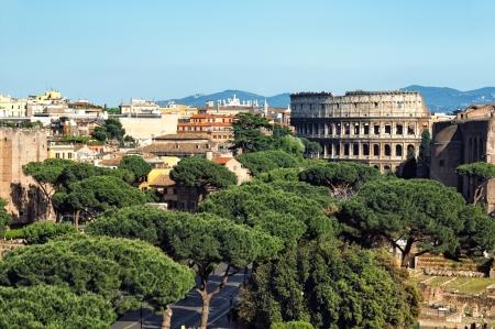 ローマのコロッセオのアリエル ビュー