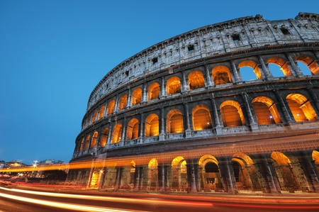 colosseum: Coliseum at night, Rome - Italy