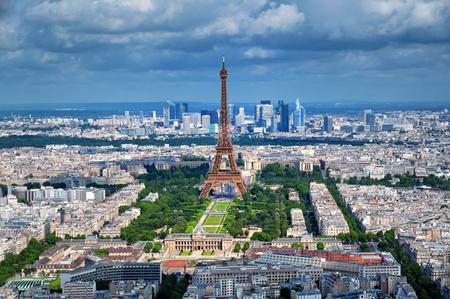 パリの航空写真