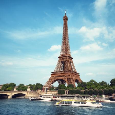 Eiffel Tower and River Seine.