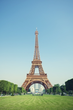 The Eiffel Tower in Paris, France. Editorial