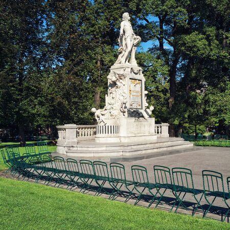 mozart: Mozart Statue at  Burggarten ( Court Garden) in Vienna, Austria.