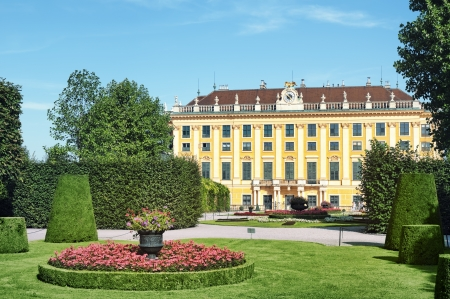 Schonbrunn Palace and  Kammergarten  in Vienna