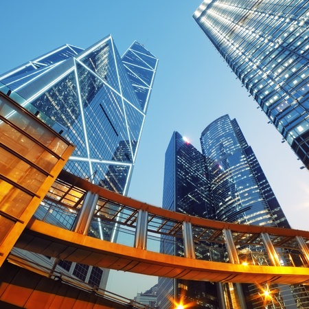 building business: Modern office buildings in Central Hong Kong