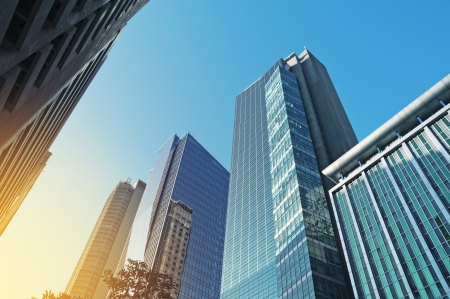 disctrict: Office buildings in Makati , the business disctrict of Metro Manila Stock Photo