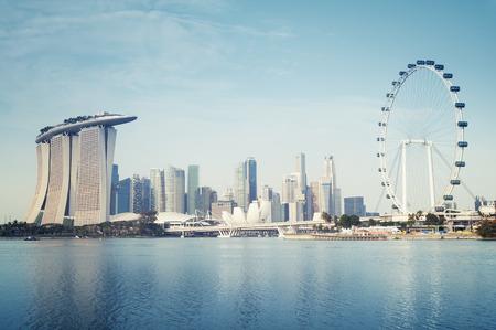 シンガポールのビジネス地区 報道画像